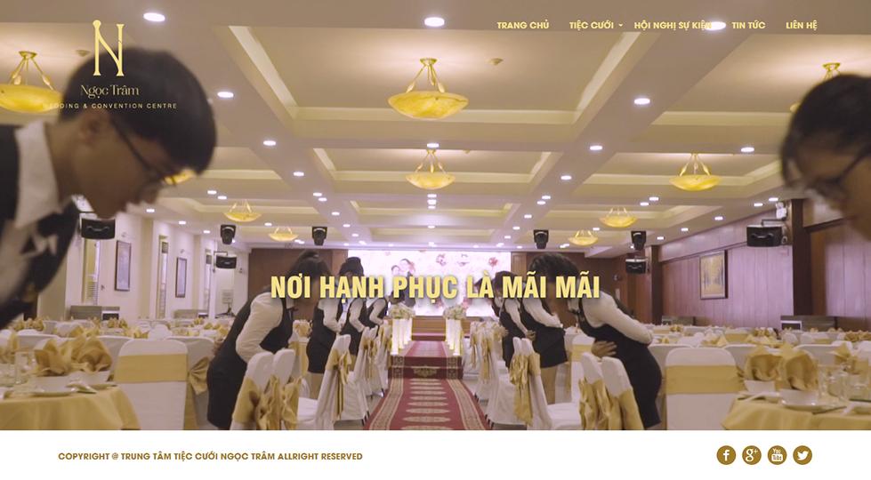 Panpic release website ngoc tram wedding