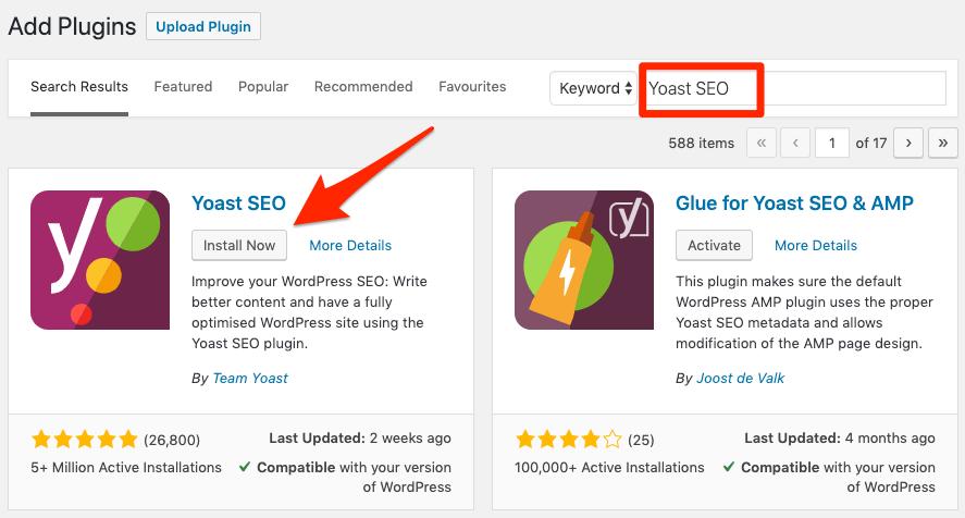 yoast seo search sitemap