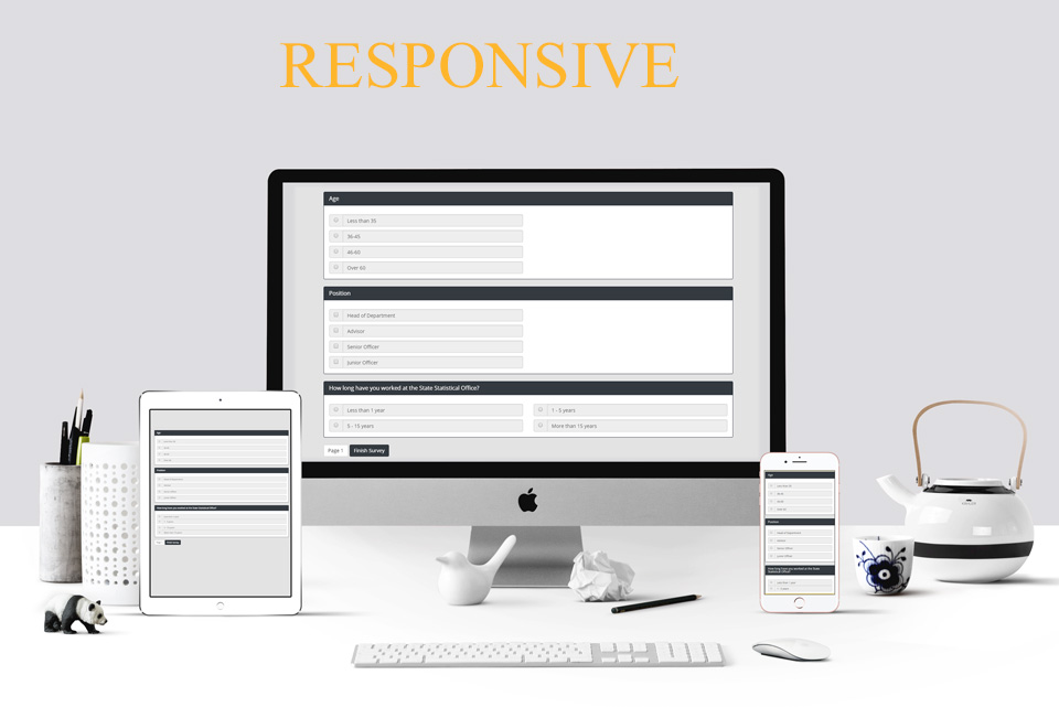 survey wizard responsive